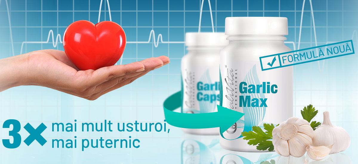 Garlic Max Calivita este de 3 ori mai concentrat decat fostul produs Calivita,  Garlic Caps