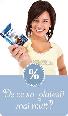 card de membru calivita cu care ai 10% reducere la produse