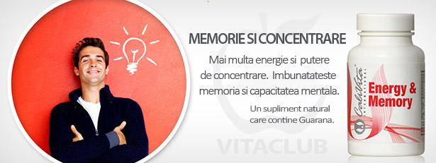 Supliment pentru mai multa energie, memorie si concentrare